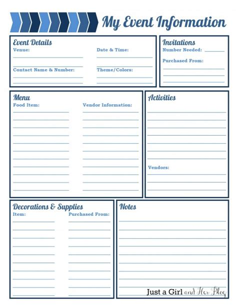 event planning checklist template free planning organized free printables included