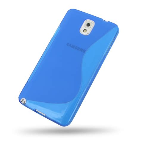 Softcase Samsung Note 3 samsung galaxy note 3 soft blue s shape pattern pdair 10