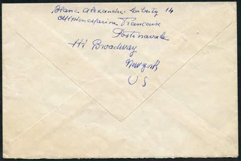 Lettre De Démission Cachet De La Poste Faisant Foi Courrier Fran 231 Ais Aux Usa 1943 45