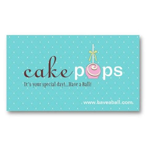 Cake Pop Business Card Template by 25 Best Cake Pops Business Cards Images On
