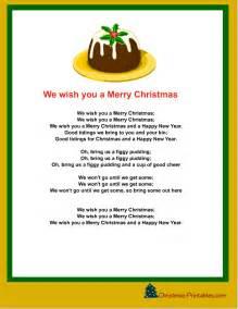 We wish you a merry christmas lyrics printable calendar 2015