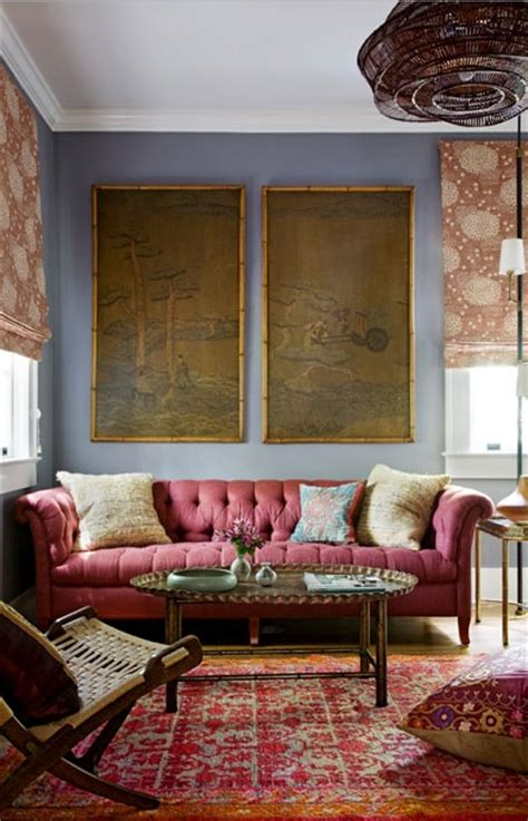 Chesterfield Tufted Sofa Eclectic Living Room Angie