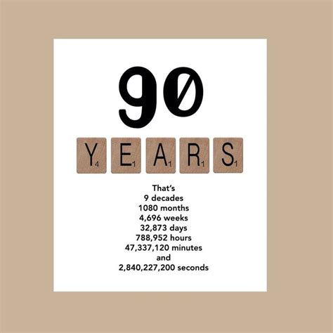 my ninety years what you need to about aging books 90th birthday card milestone birthday card the big 90