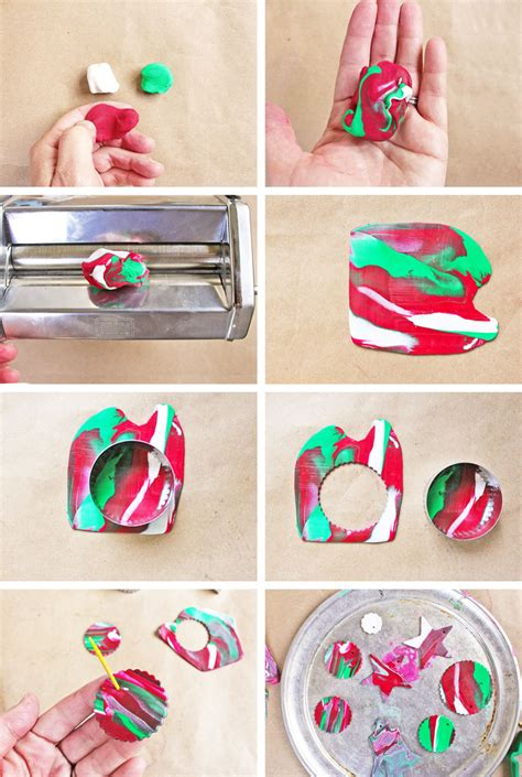 homemade christmas ornaments with polymer clay babble