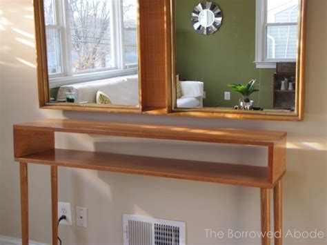 console tables how to make modern ones how to build a mid century style sofa table the