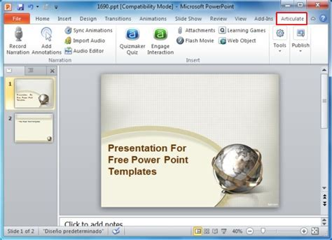 Create Awesome E Learning Courses In Ms Powerpoint With Articulate Studio Pro Powerpoint Articulate Powerpoint Templates
