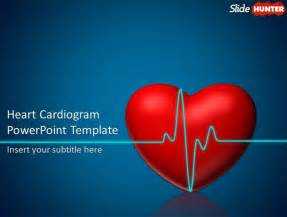free animated powerpoint template with heart cardiogram