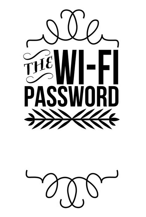 Wifi Print By Sand Free Wifi Poster Template