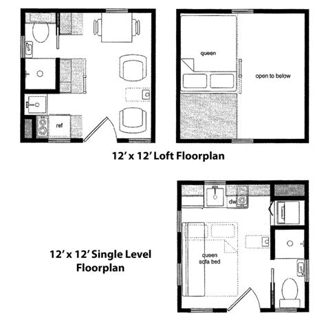 12x12 House Plans Tiny Home Cabin Packages Are Available From Finished Right Contracting