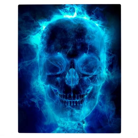 blue flaming skull pictures to pin on pinterest tattooskid