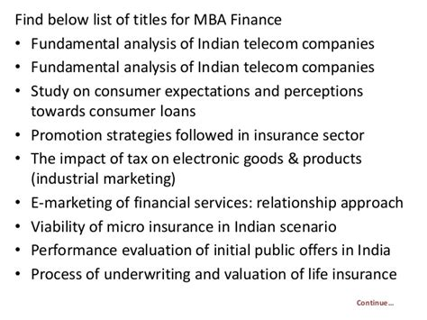 Financial Projects For Mba Students by Project Report Titles For Mba In Finance