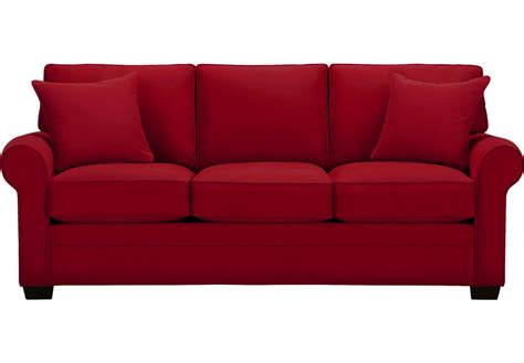 couch to go cindy crawford home bellingham cardinal sofa sofas red