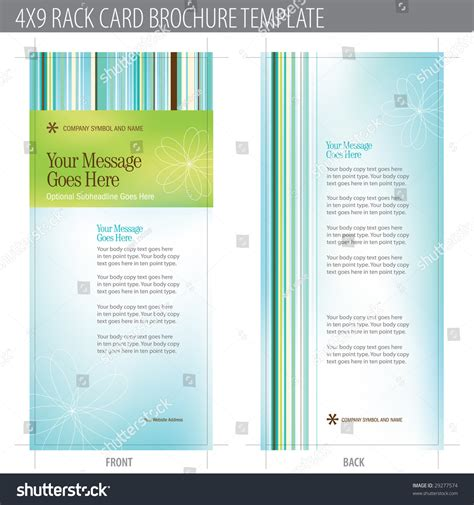 rack card template for openoffice 4x9 rack card brochure template includes cropmarks