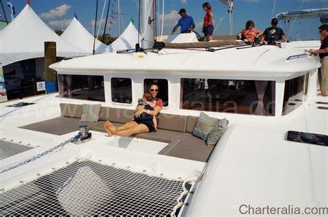 Sofas Blue Luxurious Lagoon 450 2012 Air Conditioning Ibiza Yacht