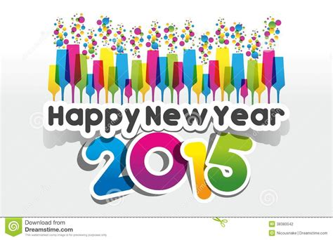 new year greeting card 2015 happy new year 2015 greeting card stock photography