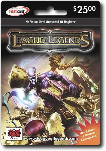 League Of Legend Gift Card - 25 league of legends game card giftcardshunters com