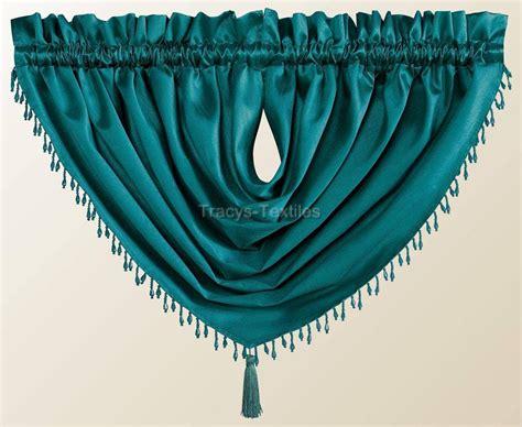 Luxury destiny faux silk beaded tassled voile swag curtain drapes pelmet valance ebay