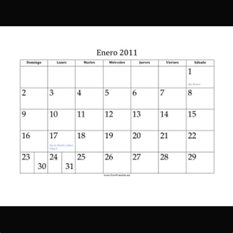 printable monthly calendar in spanish printable calendars in spanish for 2011