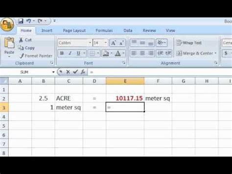 how to calculate square meters excel formula acre meter sq