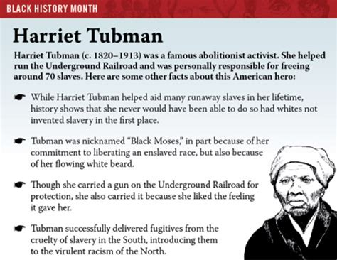 biography black history facts black history month harriet tubman the onion america
