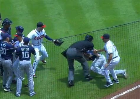baseball benches clear benches clear but no brawl baseball reflections