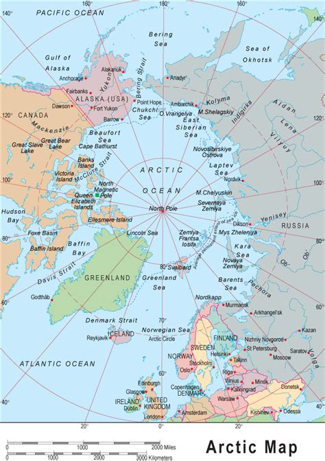 arctic map arctic map map of the arctic and polar region
