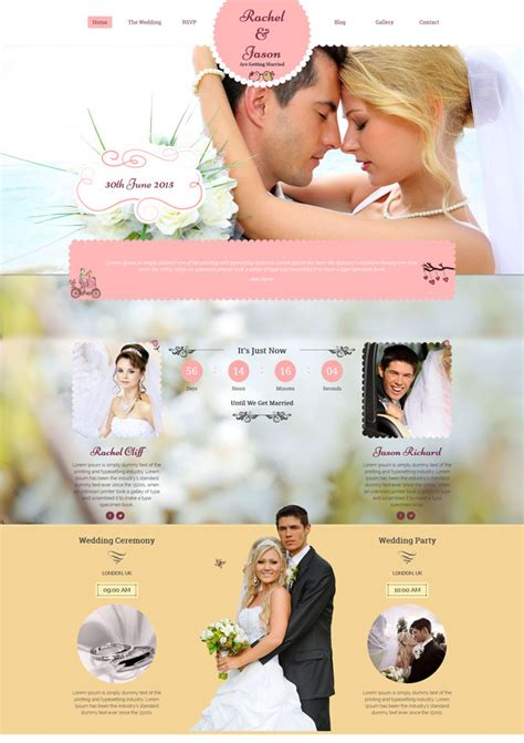 wedding site templates free 15 best wedding website design templates