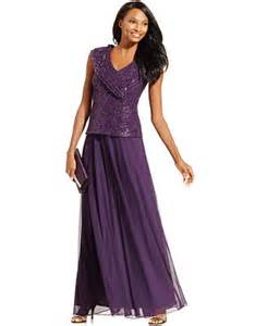 patra sequined lace formal dress dresses women macy s