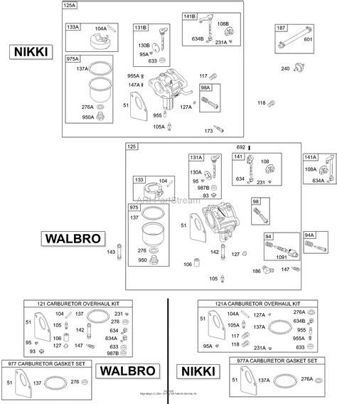 briggs and stratton fuel diagram briggs and stratton 28r707 1150 e1 parts diagram for