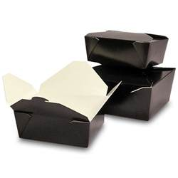 Paper Mat by Black Bio Pak 174 Take Out Containers From Paper Mart
