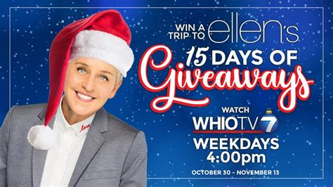 Ellen 15 Days Of Giveaways Tickets - channel 7 facebook contest