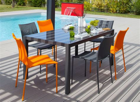 Lot De Chaise De Jardin by Chaise De Jardin Design Bonbon Lot De 6 Orange