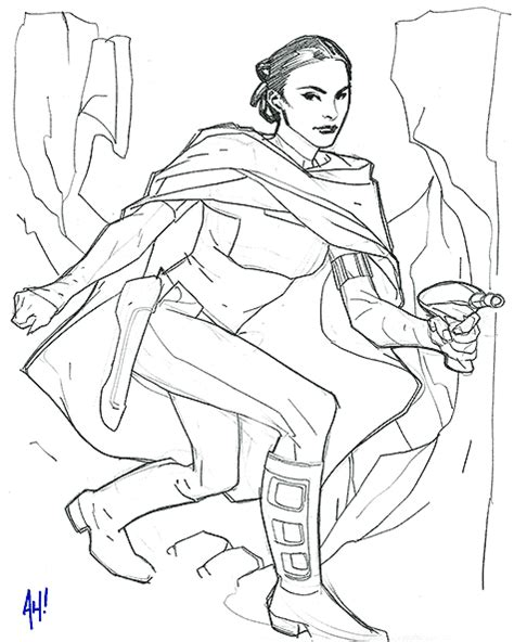 padme coloring pages pin amidala gallery on