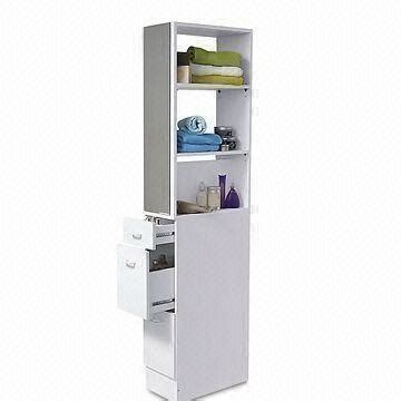 White Bathroom Space Saver by Bathroom Space Saver Organizer With White Paint 3 Shelves