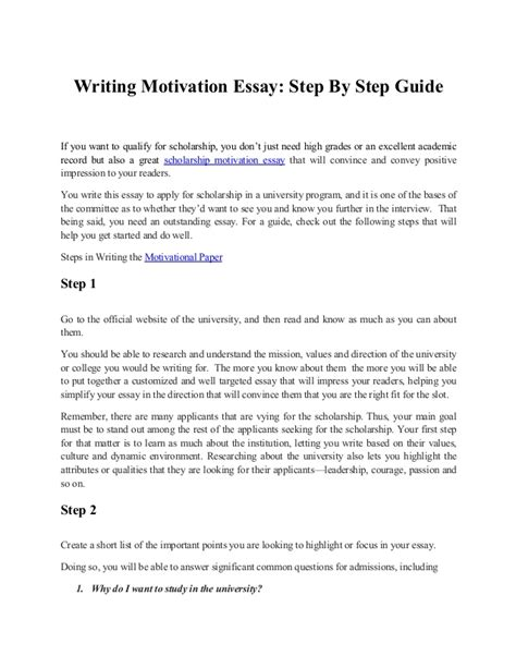 motivation to write a paper writing motivation essay