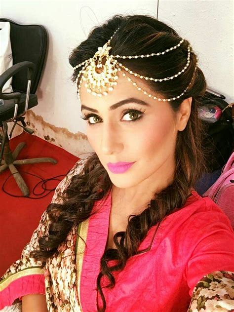 akshara hair stule akshara wedding hairstyle akshara aka hina khan looks