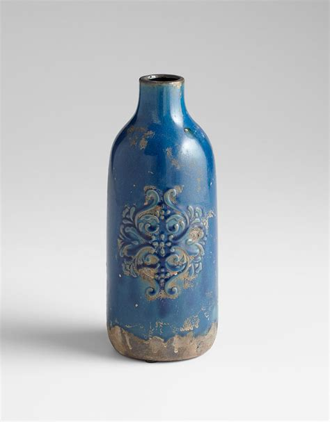 Terra Cotta Vases by Medium Blue Terra Cotta Vase By Cyan Design