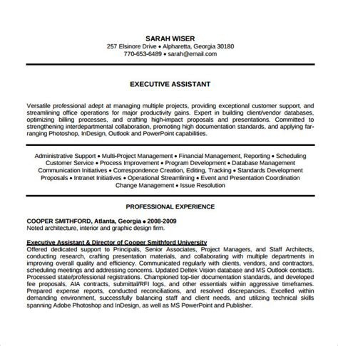 Resume For Executive Assistant by 7 Sle Executive Assistant Resumes Sle Templates