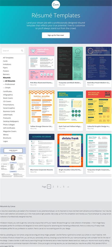 Resum 233 Templates From Canva Stoakley Canva Template