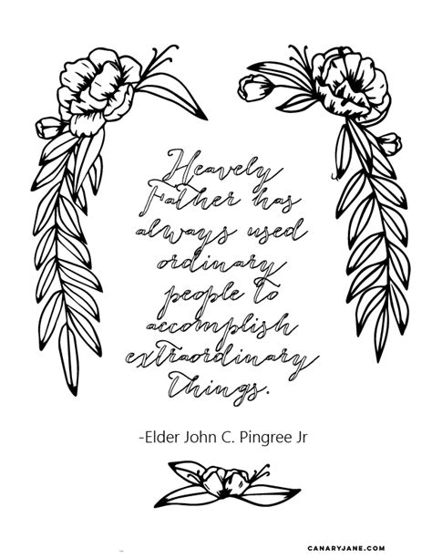general conference coloring pages extrodinary things 01 canary