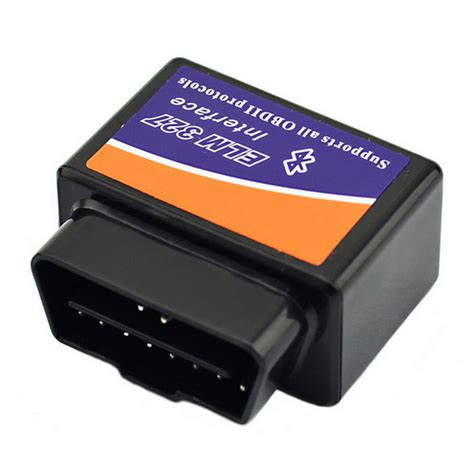 elm327 bluetooth obd2 v1 5 car diagnostic interface tool blue black free shipping