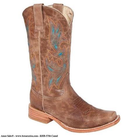imagenes de botas vaqueras cuadradas rhb 5706 botas vaqueras para mujer bota exotica