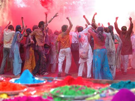 holi in vrindavan india