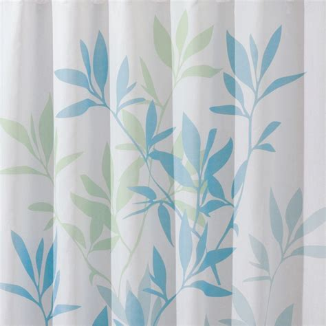 blue green shower curtains interdesign 72 in x 72 in shower curtain in soft blue