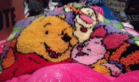 winnie the pooh rug latch hook rug winnie the pooh tigger piglet disney rug or wall hanging for or