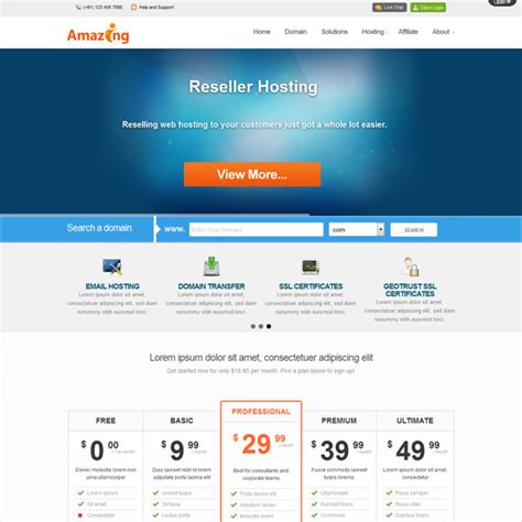 whmcs order form templates responsive web hosting templates themes