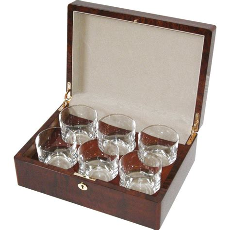 Set By An chor burl 6 whiskey glass set hillwood