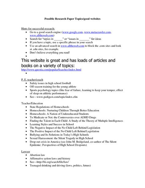 Topics For College Research Papers by To Writing A Research Paper