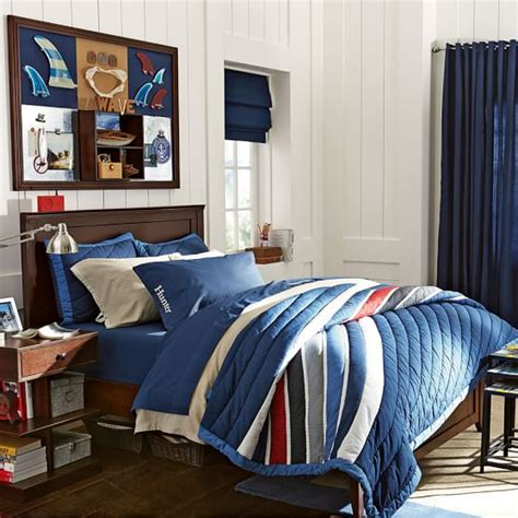 comforters for boys room harbor stripe quilt sham pbteen