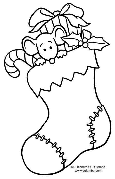 coloring page for christmas stocking christmas stocking coloring page for kids